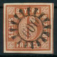 BAYERN QUADRATE Nr 4II GMR 600 Zentrisch Gestempelt X884382 - Bavière
