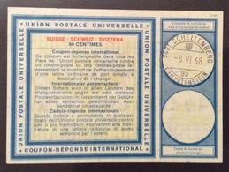 COUPON REPONSE INTERNATIONALE  SCHELLENBERG LIECHTENSTEIN  SVIZZERA SUISSE  60 CENTIMES - Posta