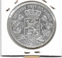 LEOPOLD 2 - 5 FRANK 1867 MET PUNT F. - 1865-1909: Leopold II