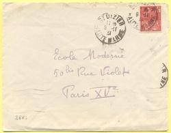 FRANCIA - France - 1931 - 50c Paris Exposition Coloniale Internationale - Viaggiata Da Saint-Dizier Per Paris - Francia