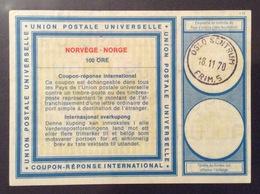 COUPON REPONSE INTERNATIONALE   NORVEGIA NORGE 100 ORE - Posta