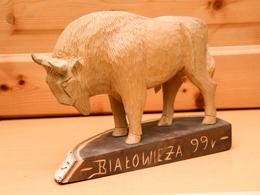 Art-antiquité_sculpture Bois_97_bison_Pologne - Wood