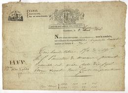 TONNEINS Dpt  Lot Et Garonne , LAPERCHE AINE LAVILLE ARBANERE & Cie  Manufacture Nationale De Tabac Lettre D'envoi 1806 - 1800 – 1899