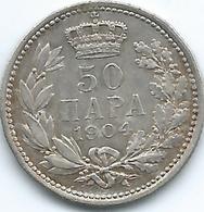 Peter II - 50 Para - 1904 (KM24.1) & 1915 (KM24.2); 1 Dinar - 1904 (KM25.1) 2 Dinara - 1912 (KM26) - Serbie