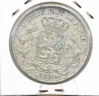 LEOPOLD 2 - 5 FRANK 1868 - 1865-1909: Leopold II