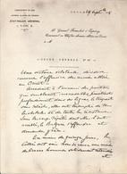 MANUSCRIT  29 SEPTEMBRE 1918 -   ENTETE COMMANDANT  EN CHEF ARMEES ALLIEES EN ORIENT  - AU GENERAL FRANCHET D'ESPEREY - 1914-18