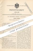 Original Patent - Dr. Alexander Lederer , Budapest , 1896 , Drehbarer Kochherd | Kocher , Herd , Backofen , Ofen , Öfen - Historische Dokumente