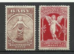 AUSTRIA Österreich Ca 1910 Baby Angel Wohltätigkeitsmarken Vignetten Spendemarken Charity MNH - Vignetten (Erinnophilie)