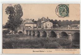 CPA- Bar-sur Seine - Le Pont- 1907- Dép10- 2scans - Bar-sur-Seine