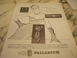 ANCIENNE AFFICHE  PUBLICITE JOAILLERIE PALLADIUM 1953 - Affiches