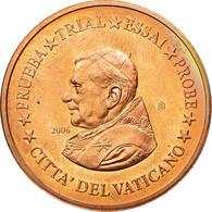 Vatican, Médaille, 5 C, Essai-Trial Benoit XVI, 2006, FDC, Cuivre - Jetons & Médailles