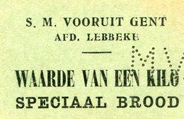 Lebbeke Gent Vooruit Waarde Van Een Kilo Speciaal Brood - Lebbeke