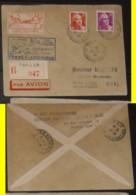1ere LIAISON AERIENNE  PARIS NEW YORK  24 06 46 - Commemorative Labels
