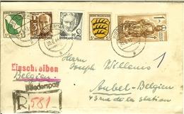 Recommandé Einschreiben 1948  Französische Zone  De NIEDERSPAY ( Braubach  ) Pour AUBEL ( Belgique / Belgien ). - French Zone