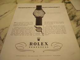 PUBLICITE AFFICHE MONTRE AUTOMATIQUE MONTRE ROLEX   1951 - Jewels & Clocks