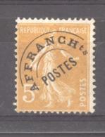 0ob 044  -  France  -  Préos  :  Yv  50  * GNO - 1893-1947