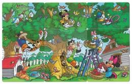 Argentina - Telefónica - Complete Disney Puzzle Of 9 Cards, 20U, 1997, 100.000ex, All Used - Argentina