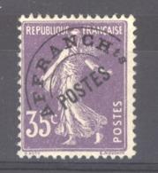 0ob 052  -  France  -  Préos  :  Yv  62  ** GNO - 1893-1947