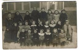 Carte Photo - Photo De Classe - Ecole Communale Charleroi Nord II Filles - 1907 - 2 Scans - Charleroi