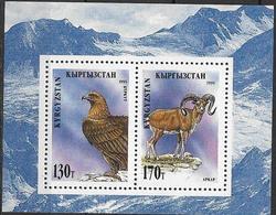 1995 Kirgisien  Mi.Bl 91 A **MNH Steinadler (Aquila Chrysaetos / Altai-Wildschaf (Ovis Ammon Ammon - Kirghizistan