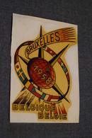RARE Expo 58,exposition Bruxelles 1958,Tatouage Sur Feuille,originale De 1958 - Obj. 'Souvenir De'