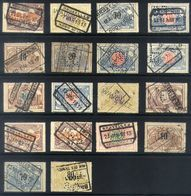 Y03 - Belgium - Railway Parcel Stamps - Lot Used Perfins - Bahnwesen