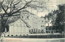 Pays Div -ref P467- Singapour - Singapore - Raffels Hotel - Bar Et Billard - Billiard Room - Carte Bon Etat - - Singapour