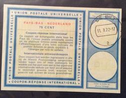 COUPON REPONSE INTERNATIONALE   PAESI BASSI OLANDANA NEDERLAND 75 CENT - Posta