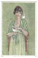 JOYEUSES PÂQUES - Illustrateur MAUZAN - Femme Aux Tourterelles - Mauzan, L.A.