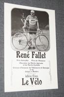 Très Belle Carte Photo,coureur Cycliste,humour,René Fallet,idée Fixe Le Vélo,originale Collector - Cyclisme