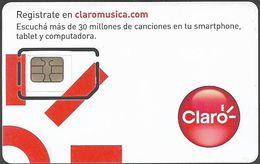 Argentina - Claro - X Marcos GSM White Card 0 (Matt) GSM Sim5 Mini-Micro, 2015, Mint - Argentina