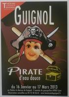 GUIGNOL LYON - Marionnette Théatre / Pirate Eau Douce / Coffre Trésor - Carte Postale Publicitaire Théâtre Guignol - Théâtre