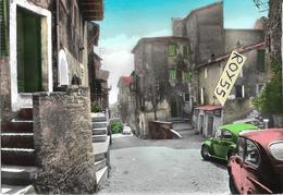 Lazio-roma-bellegra Borgo S.nicola  Veduta Auto Epoca Negozi Scritta Birra Peroni Animata - Altre Città
