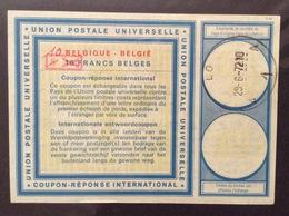 COUPON REPONSE INTERNATIONALE   BELGIO BELGIQUE 8/10 Poi 10 FRANCS BELGES - Posta