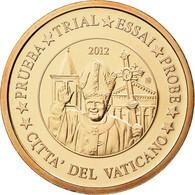 Vatican, Médaille, 2 C, Essai-Trial Benoit XVI, 2012, FDC, Cuivre - Jetons & Médailles