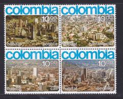 COLOMBIE AERIENS N°  595 à 598 ** MNH Neufs Sans Charnière, TB (D8161) Habitat, Conférence Des Nations Unies - 1976 - Kolumbien