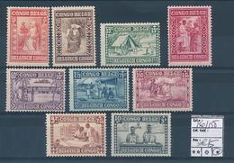 BELGIAN CONGO COB 150/158 LH - Belgisch-Kongo