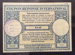 COUPON REPONSE INTERNATIONALE   REPUBBLICA DE VENEZUELA B 0.45 - Posta