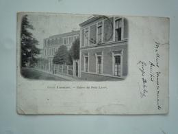 LILLE 1913 LYCEE FAIDHERBE ENTREE DU PETIT LYCEE DOS SIMPLE CIRCULEE ETAT BON - Lille