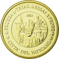 Vatican, Médaille, 10 C, Essai-Trial Benoit XVI, 2012, FDC, Copper-Nickel Gilt - Jetons & Médailles
