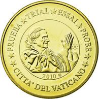 Vatican, Médaille, 20 C, Essai-Trial Benoit XVI, 2010, FDC, Copper-Nickel Gilt - Jetons & Médailles