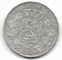 LEOPOLD 2 - 5 FRANK 1872 - 1865-1909: Leopold II