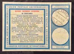COUPON REPONSE INTERNATIONALE   SVIZZERA SUISSE  NAZIONI UNITE GINEVRA 90 CENTIMES - Posta