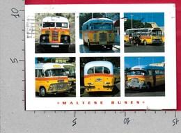 CARTOLINA VG MALTA - MALTESE BUSES AUTOBUS BUS - Vedutine Multivue - 10 X 15 - ANN. 2005 EUROPA - Autobus & Pullman