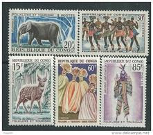 Congo N° 162 / 66  XX   Folklore Et Touirisme La Série Des 5 Valeurs Sans Charnière,  TB - Congo - Brazzaville
