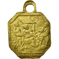 Italie, Médaille, Nativité, Dévotion, XVIème Siècle, TTB+, Cuivre - Italie