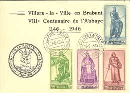 Carte De Villers-la-Ville 1946 Avec 737/740 . - België
