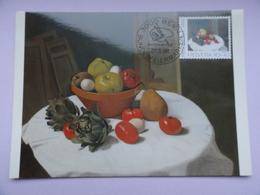 CARTE MAXIMUM CARD NATURE MORTE PAR FELIX VALLOTTON PRO PATRIA SUISSE - Arts