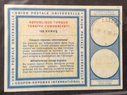 COUPON REPONSE INTERNATIONALE   TURCHIA REPUBLIQUE TURQUE 150 K. - Posta