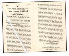 LEON GUSTAAF GIJBELS ° WIJCHMAAL 1909 + PEER 1957 / MARIA SCHEELEN - Images Religieuses